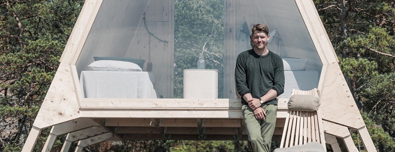 the designer behind the Nolla cabin Robin Falck