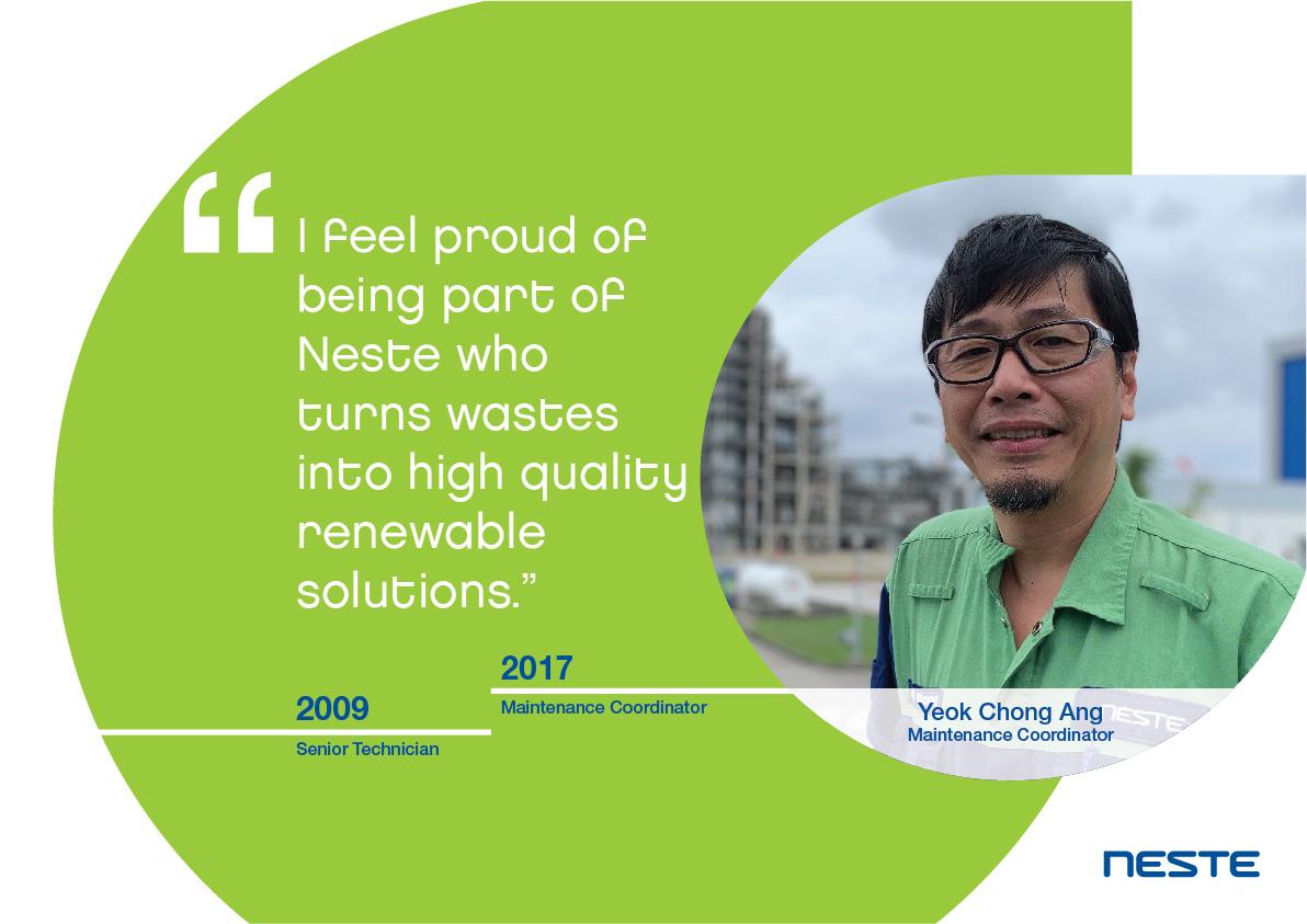 Ten years long service testimonials - Chong