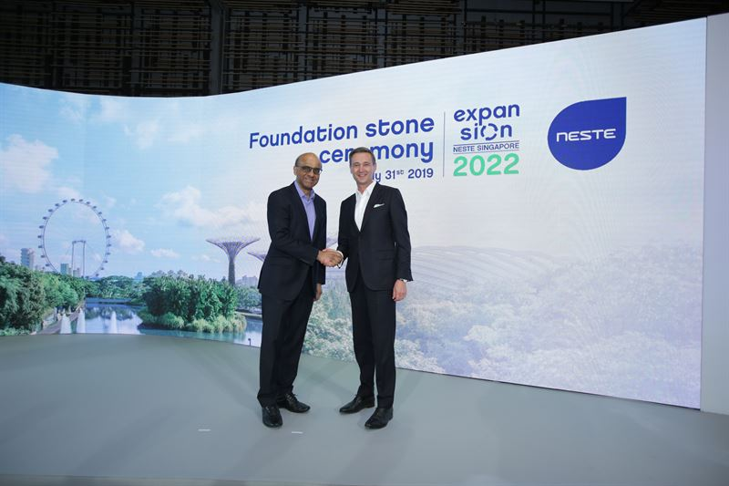 Peter Vanacker and Tharman Shanmugaratnam