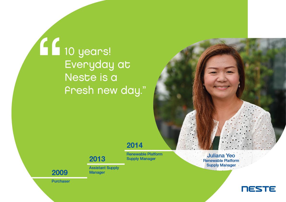 Ten years long service testimonials - Juliana Yeo