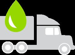 Smaller environmental footprint