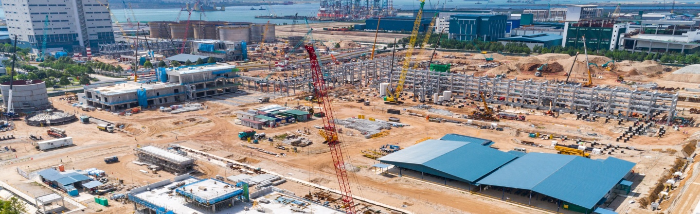 Aerial image of Singapore Expansion Project_March2020