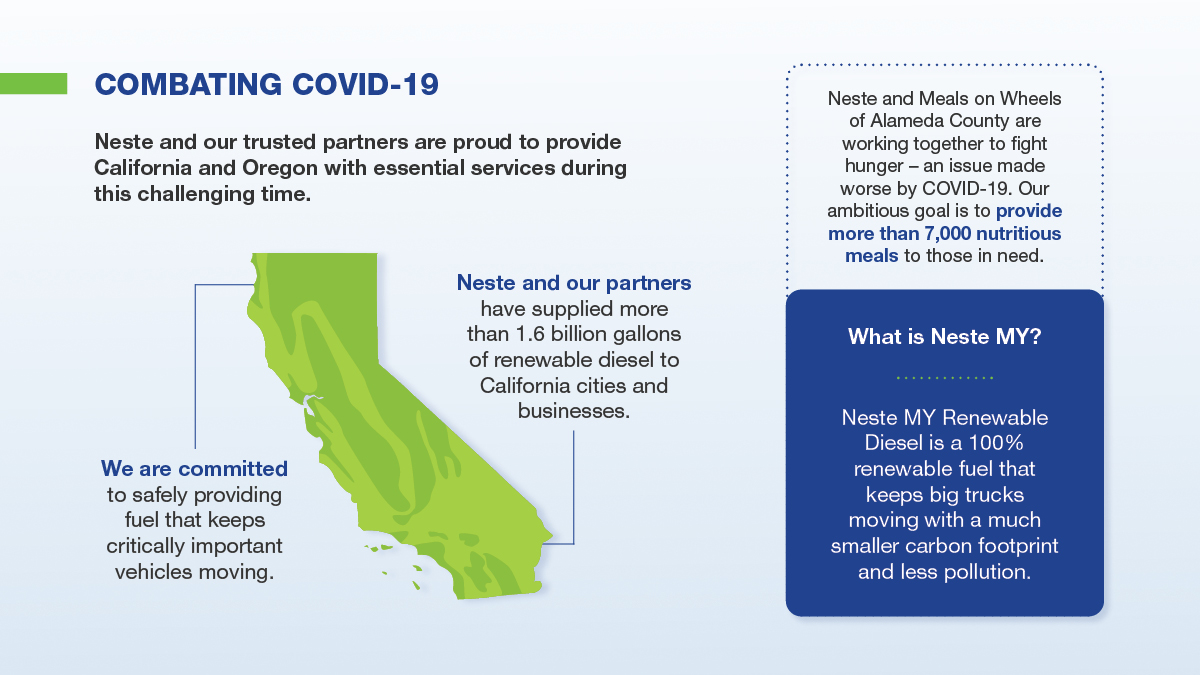 Helping fight Covid-19 in California and Oregon